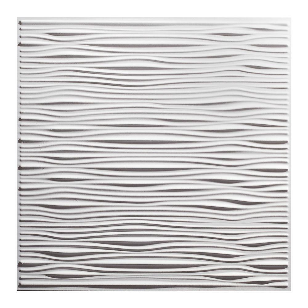 2  Feet x 2  Feet Drifts White Lay In Ceiling Tile