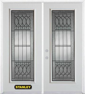 70-inch x 82-inch Nightingale Full Lite White Double Steel Door with Astragal and Brickmould