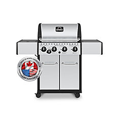 4-Burner Propane BBQ in Stainless Steel