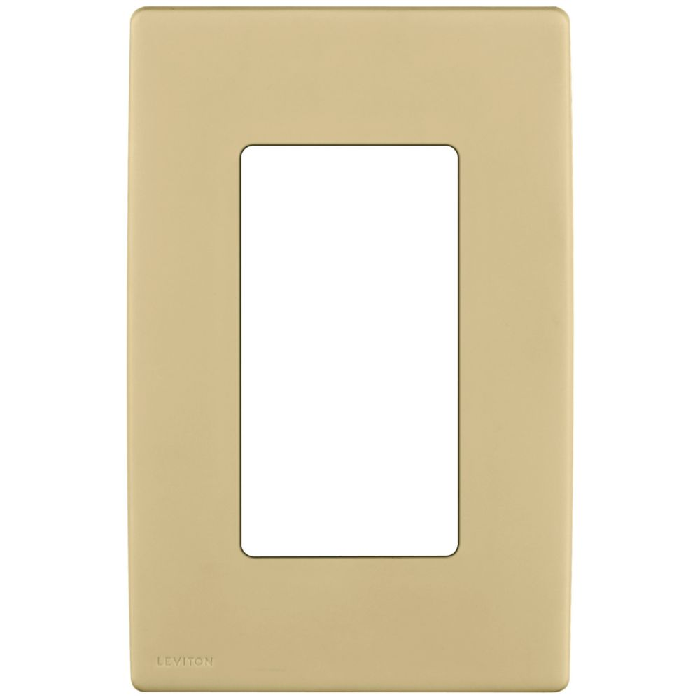 1-Gang Screwless Snap-On Wallplate for One Device, in Wispering Wheat