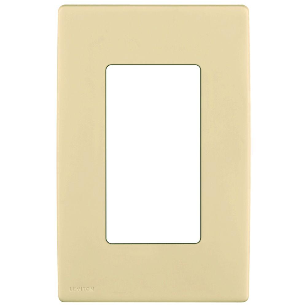 Plaque sans vis enclipsable Renu pour un dispositif, en blanc Côte d'Or.