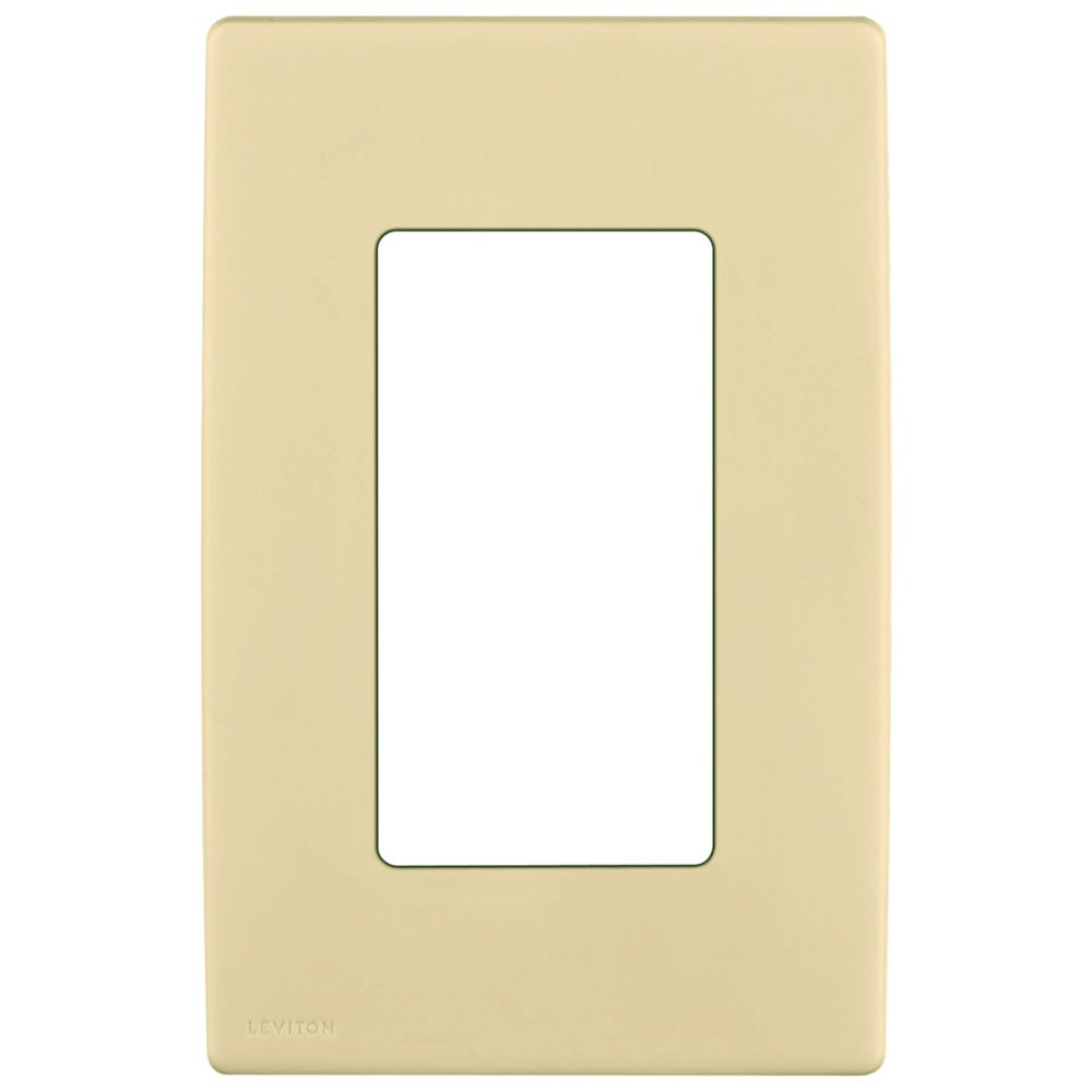 1-Gang Screwless Snap-On Wallplate for One Device, in Gold Coast White