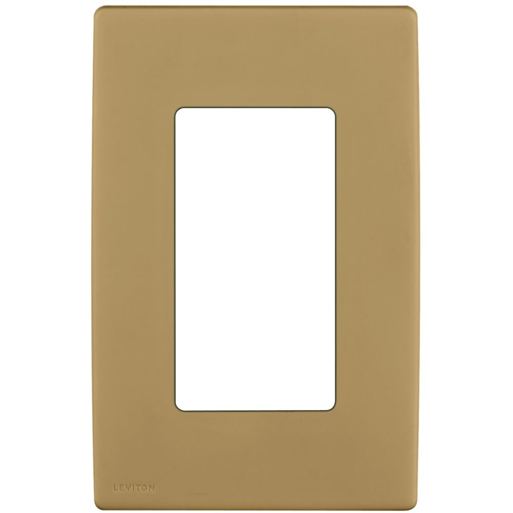 1-Gang Screwless Snap-On Wallplate for One Device, in Warm Caramel REWP1-011 Canada Discount