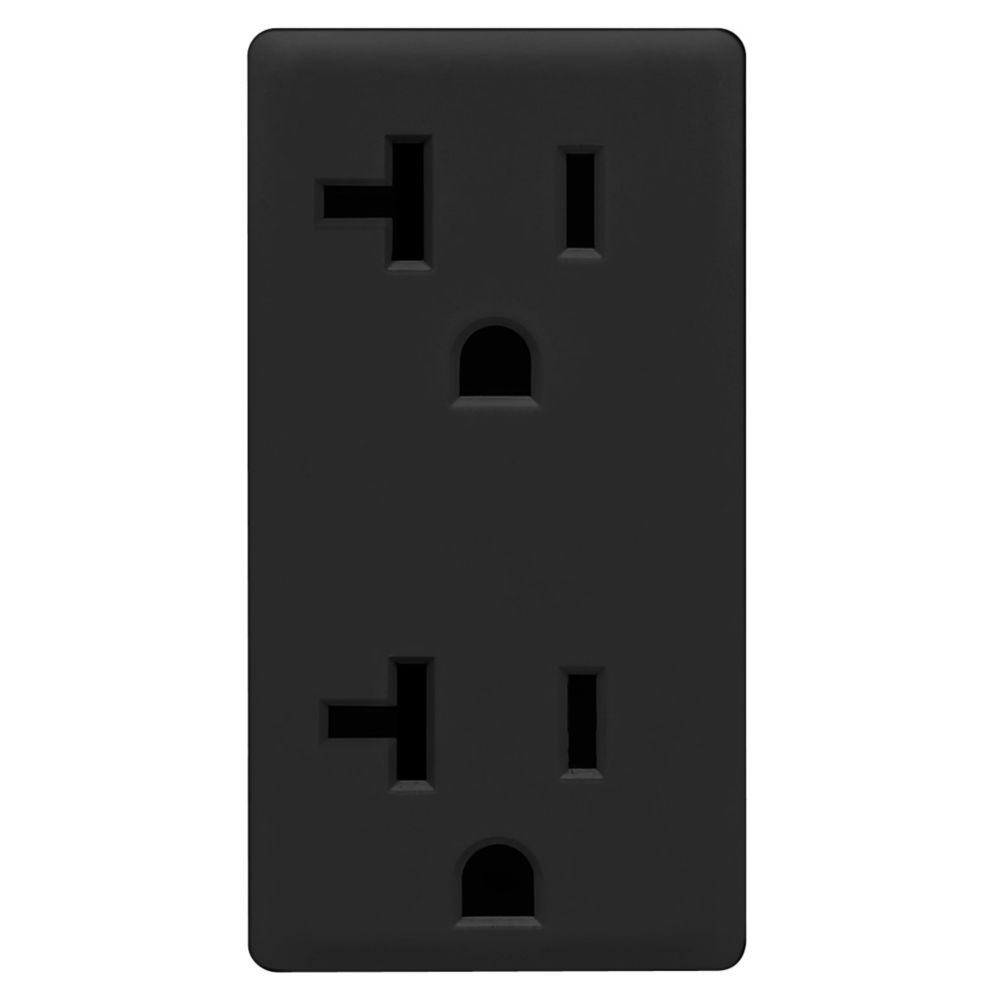 20A Colour Change Kit for Tamper Resistant Receptacles, in Onyx Black
