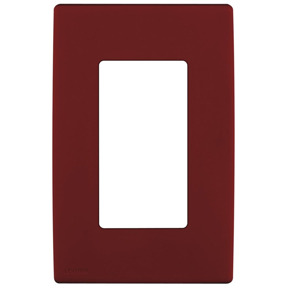 1-Gang Screwless Snap-On Wallplate for One Device, in Deep Garnet