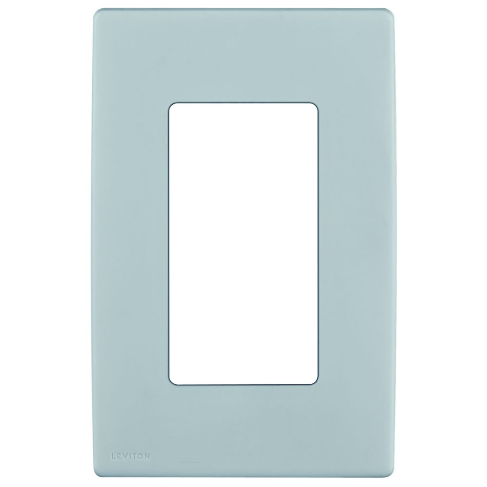 1-Gang Screwless Snap-On Wallplate for One Device, in Sea Spray