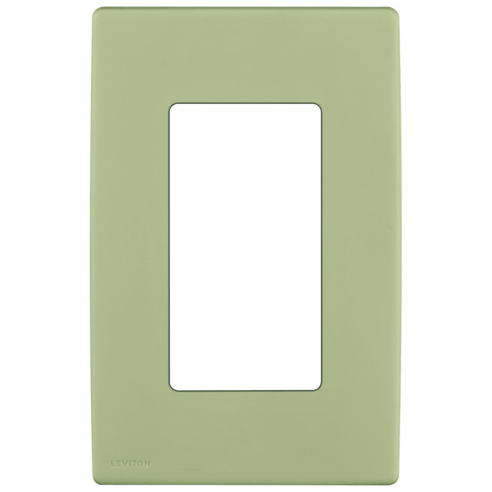 1-Gang Screwless Snap-On Wallplate for One Device, in Prairie Sage