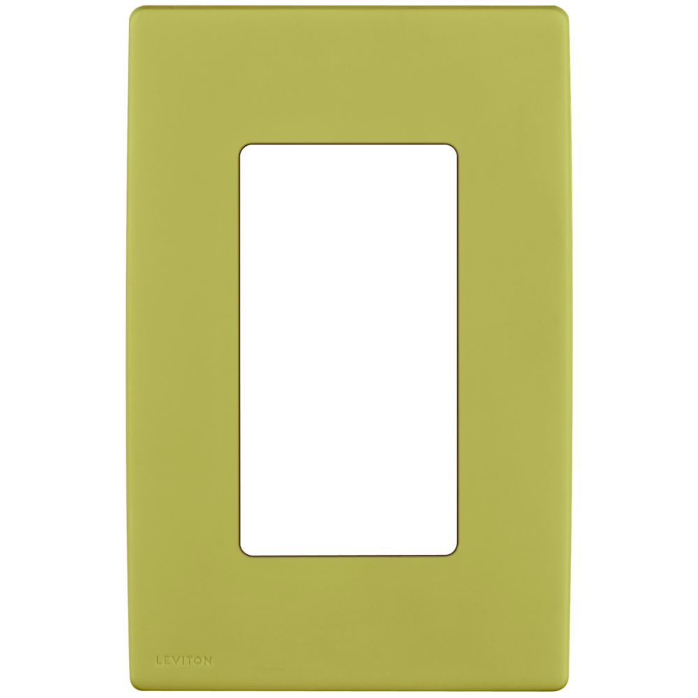 1-Gang Screwless Snap-On Wallplate for One Device, in Granny Smith Apple