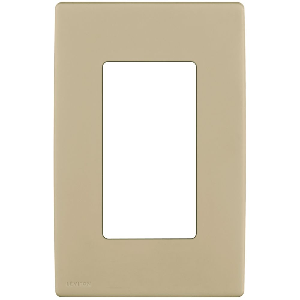 1-Gang Screwless Snap-On Wallplate for One Device, in Café Latte