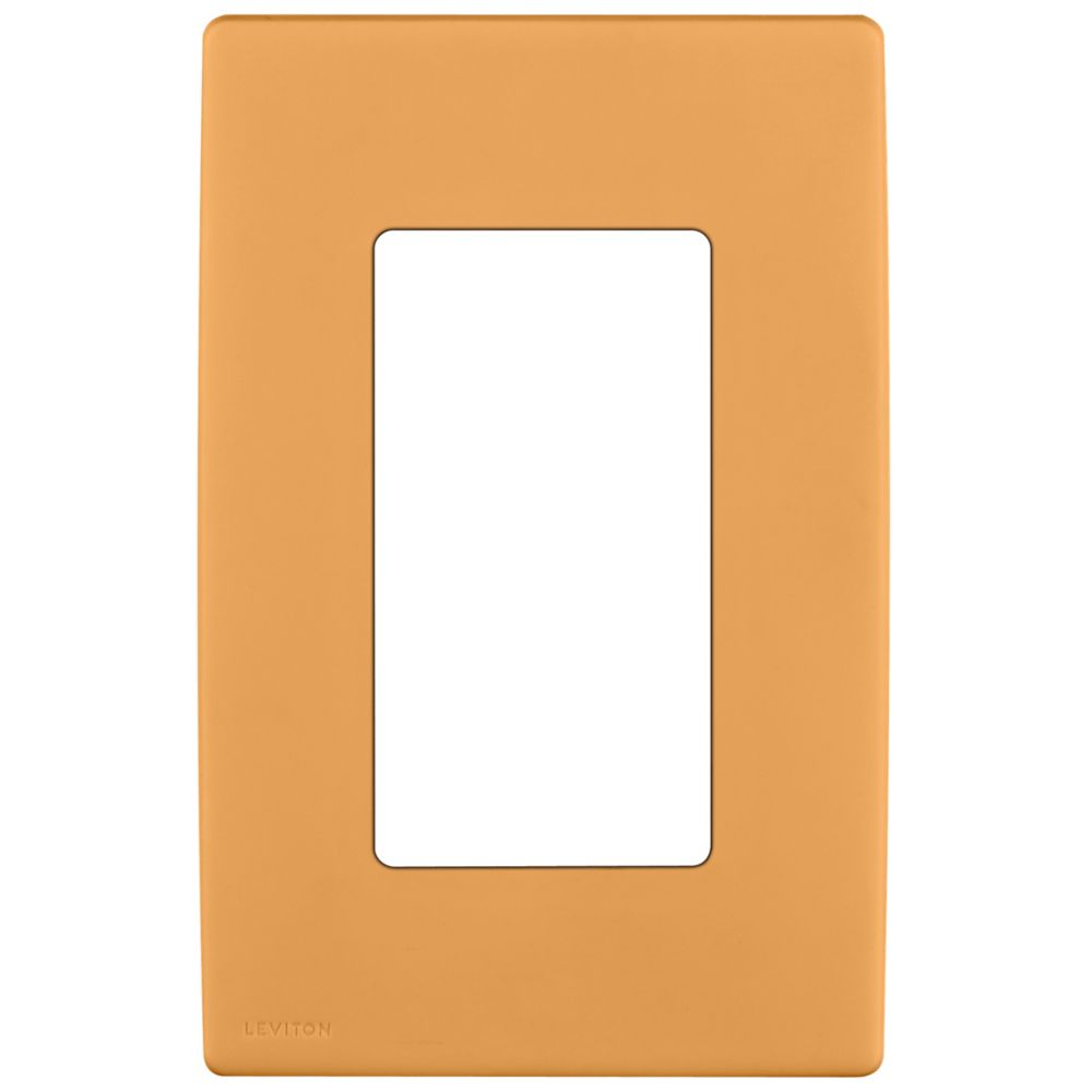 1-Gang Screwless Snap-On Wallplate for One Device, in Toasted Coconut