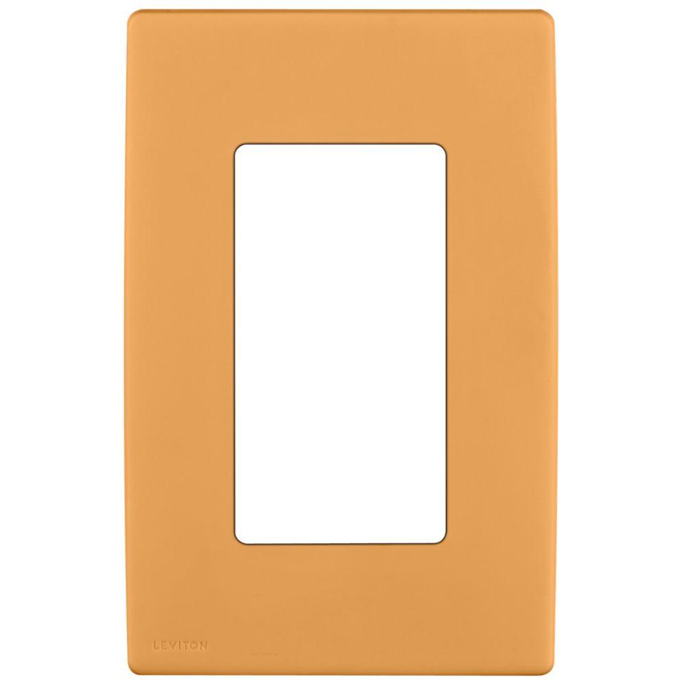 Plaque sans vis enclipsable Renu pour un dispositif, en coco grillé.