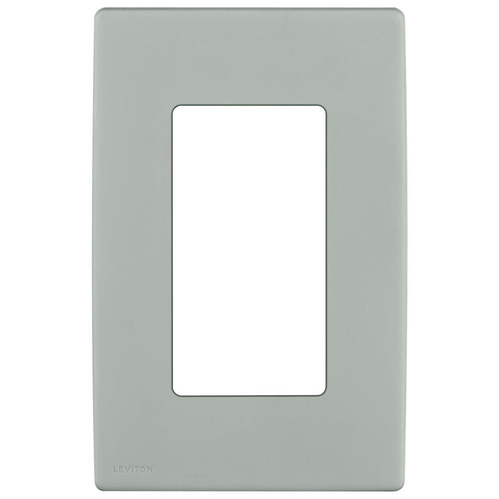 1-Gang Screwless Snap-On Wallplate for One Device, in Pebble Gray