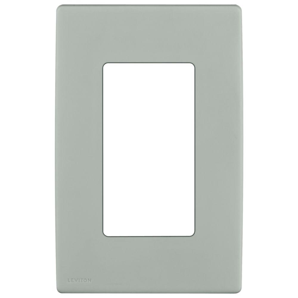Renu 1-Gang Screwless Wallplate in Pebble Gray