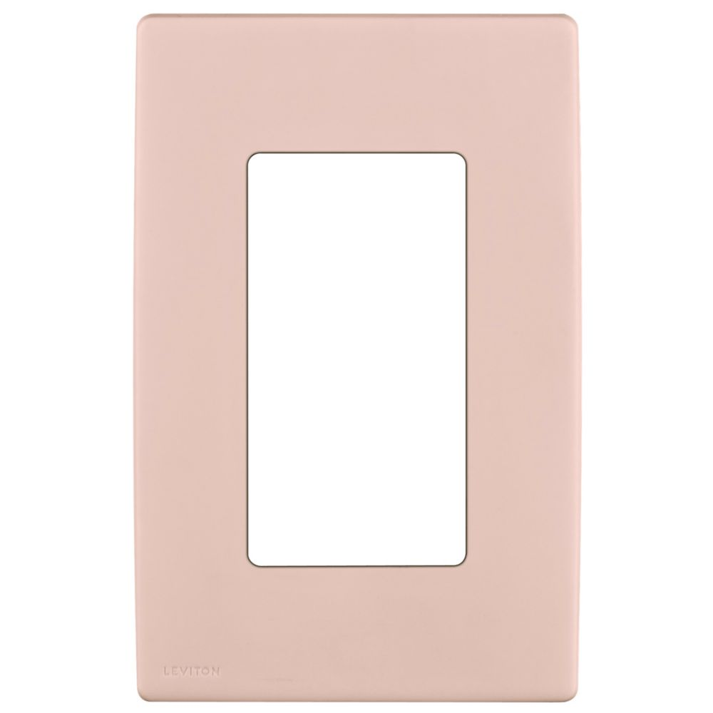 1-Gang Screwless Snap-On Wallplate for One Device, in Fresh Pink Lemonade