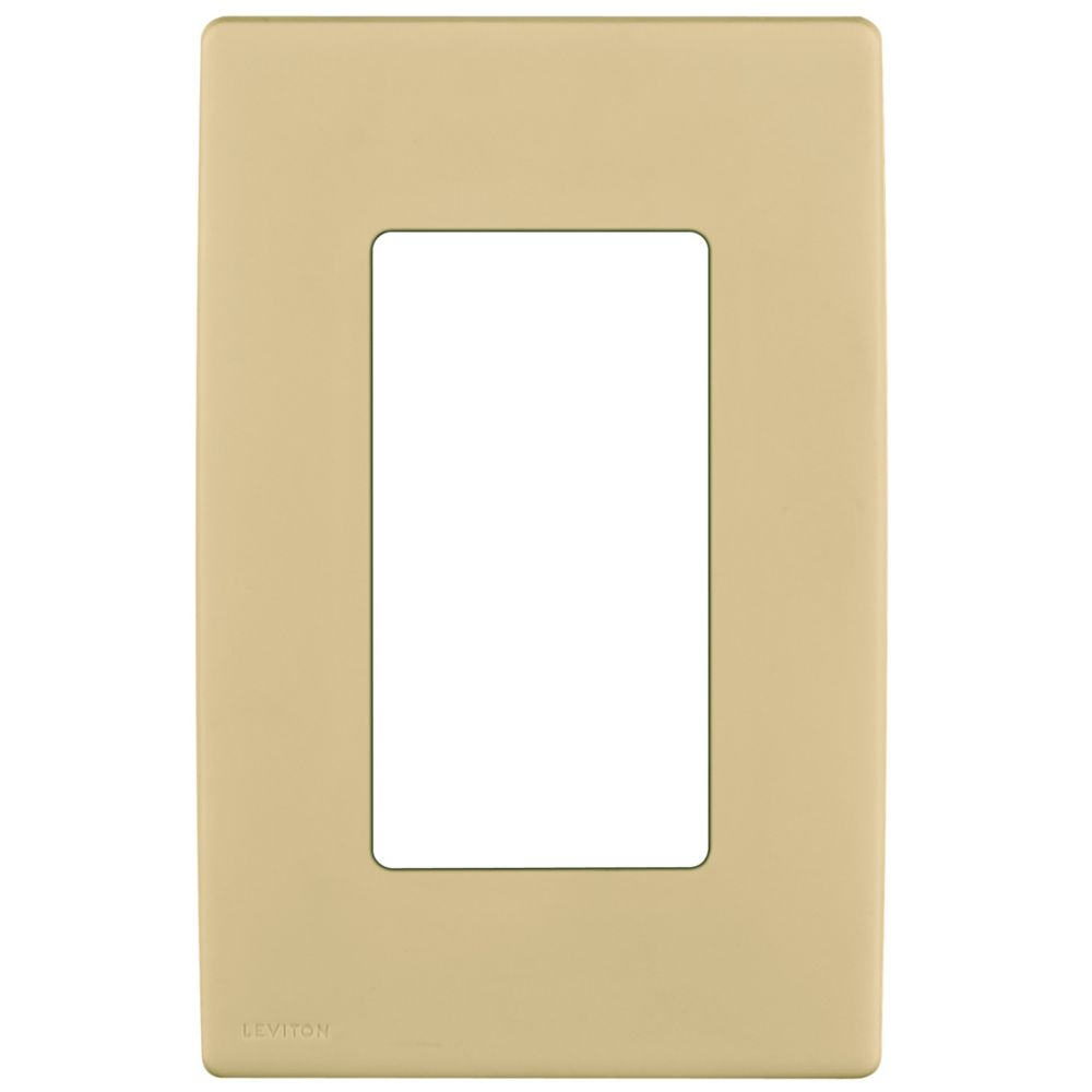 1-Gang Screwless Snap-On Wallplate for 1 Device, in Dapper Tan
