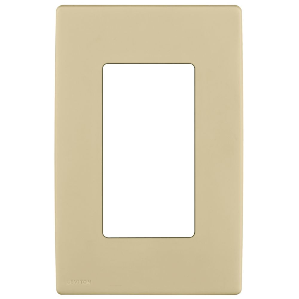 1-Gang Screwless Snap-On Wallplate for One Device, in Navajo Sand REWP1-008 in Canada