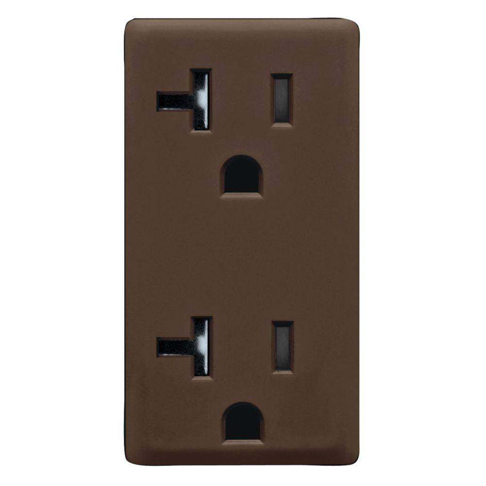20A Colour Change Kit for Tamper Resistant Receptacles, in Walnut Bark