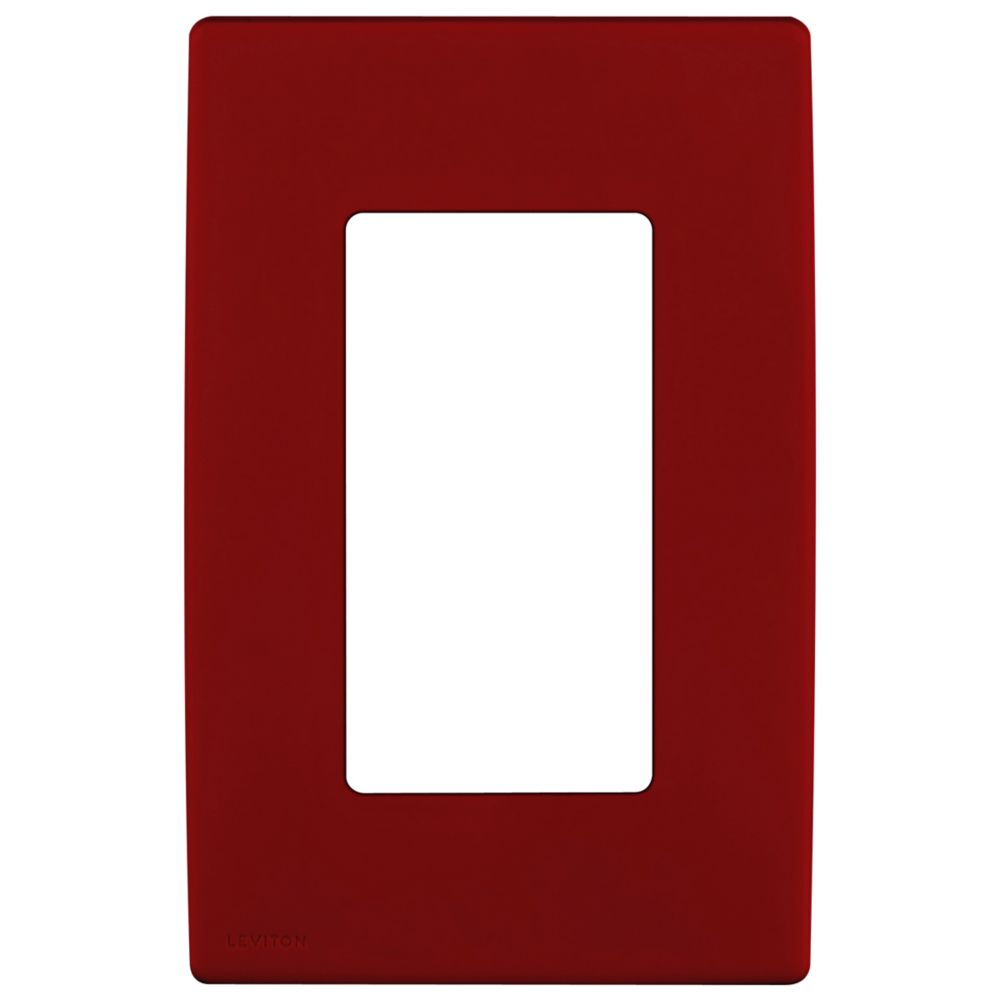 1-Gang Screwless Snap-On Wallplate for One Device, in Red Delicious