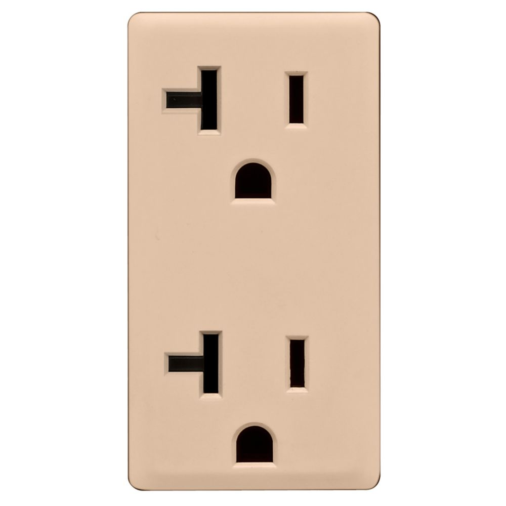 20A Colour Change Kit for Tamper Resistant Receptacles, in Dapper Tan
