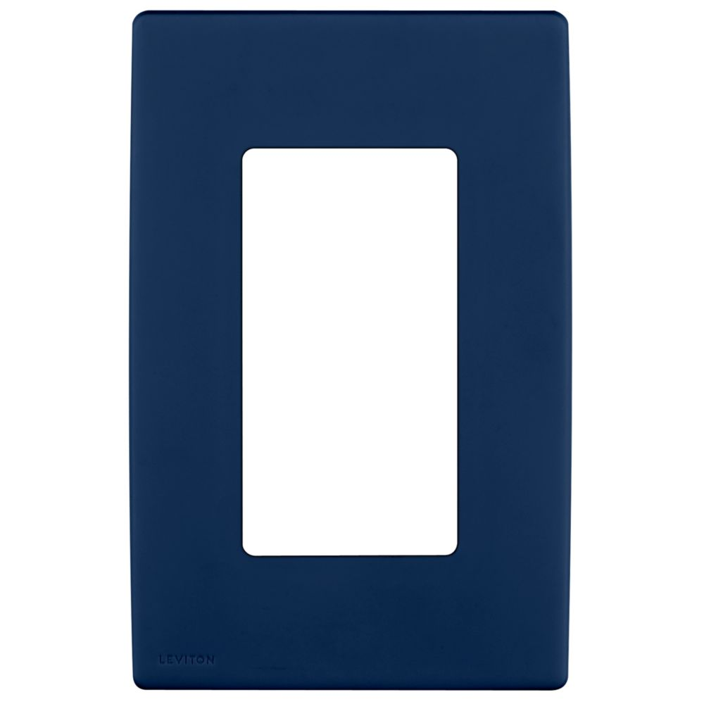 1-Gang Screwless Snap-On Wallplate for One Device, in Rich Navy
