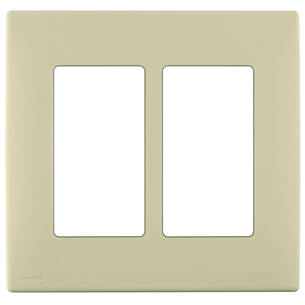 2-Gang Screwless Snap-On Wallplate for Two Devices, in Navajo Sand