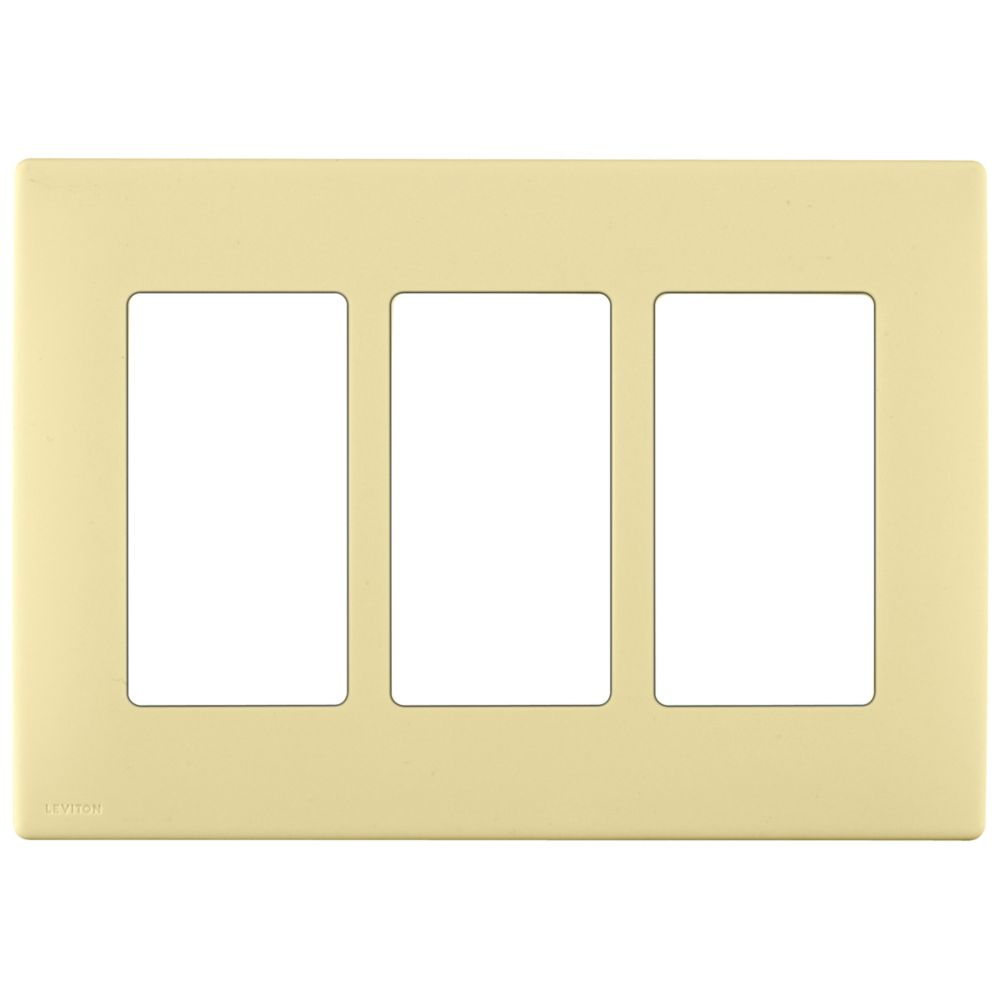 3-Gang Screwless Snap-On Wallplate for 3 Devices, in Corn Silk REWP3-016 in Canada
