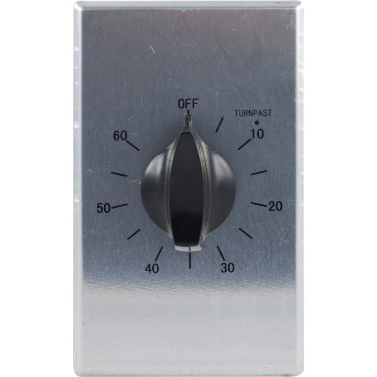 Defiant 60 Minute Spring Wound Timer, Stainless Steel