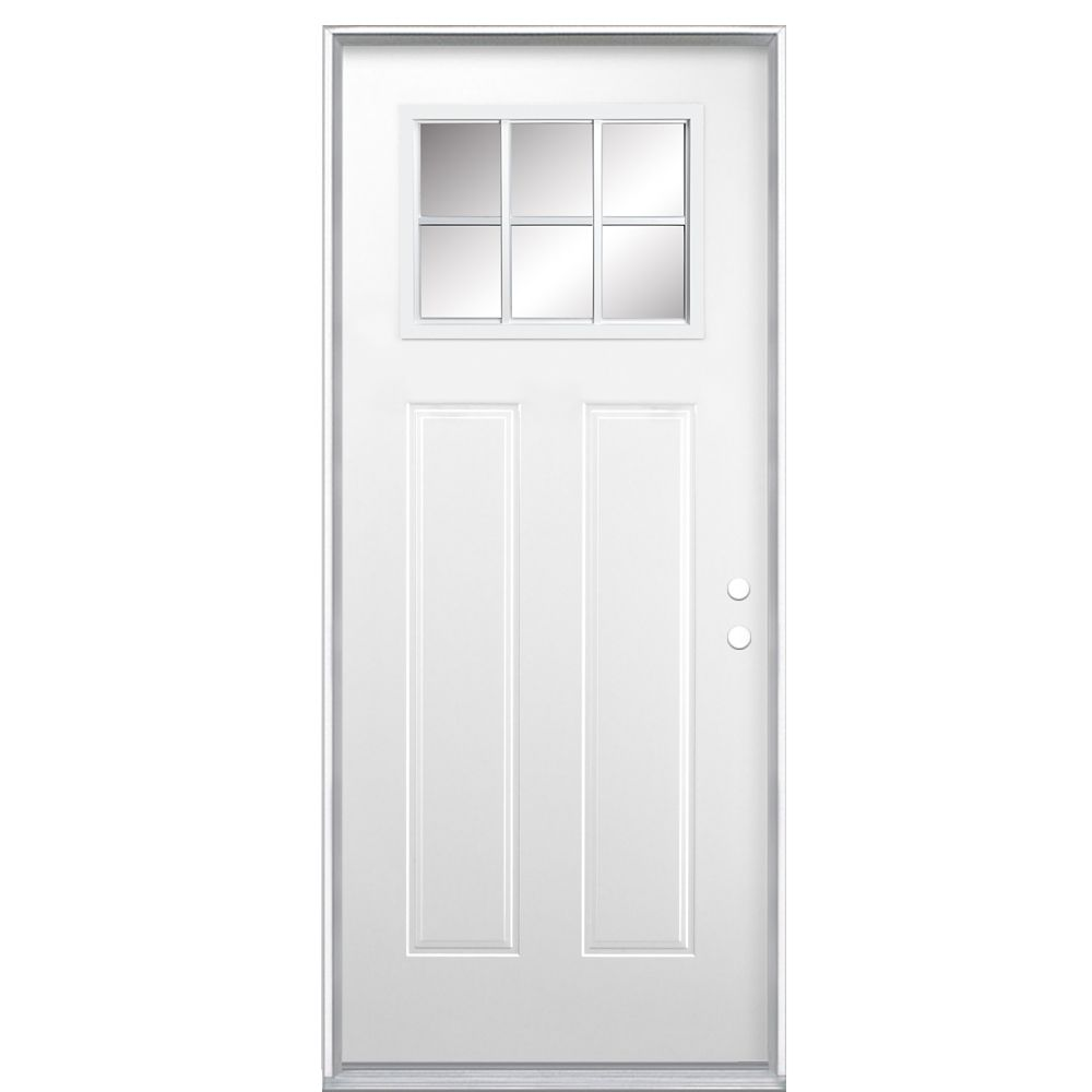32-inch x 4 9/16-inch Craftsman 6-Lite Low-E Right Hand Door