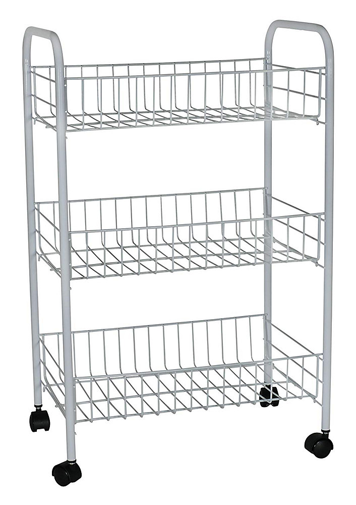 Rubbermaid 3 Tier Storage Cart With Wheels The Home Depot Canada