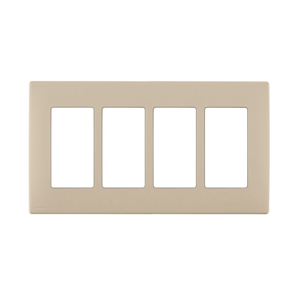 4-Gang Screwless Snap-On Wallplate for 4 Devices, in Navajo Sand REWP4-008 Canada Discount