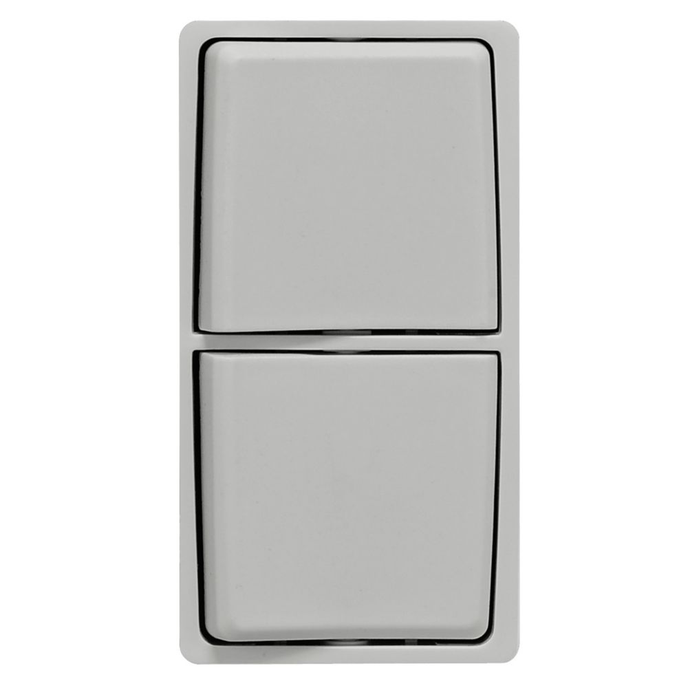 Renu Face Plate for Combination Switch (Wallplate not Included) in Pebble Gray