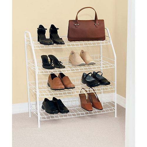 4 Tier Shoe Shelf 27-7/8-Inch H By 25-3/4-Inch W By 11-5/8-Inch D.