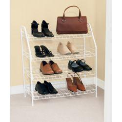 Rubbermaid 4 Tier Shoe Shelf 27 78 Inch H By 25 34 Inch W By 11 5