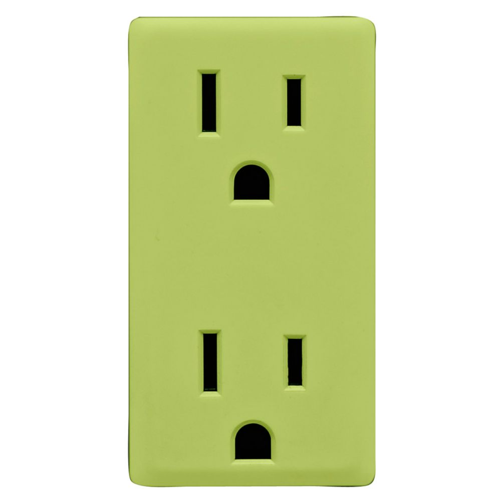 15A Colour Change Kit for Tamper Resistant Receptacles, in Granny Smith Apple