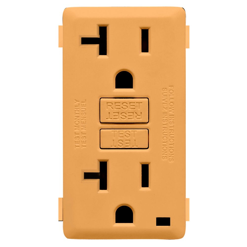 Renu Face Plate for 20A GFCI Receptacle (Wallplate not Included) in Toasted Coconut