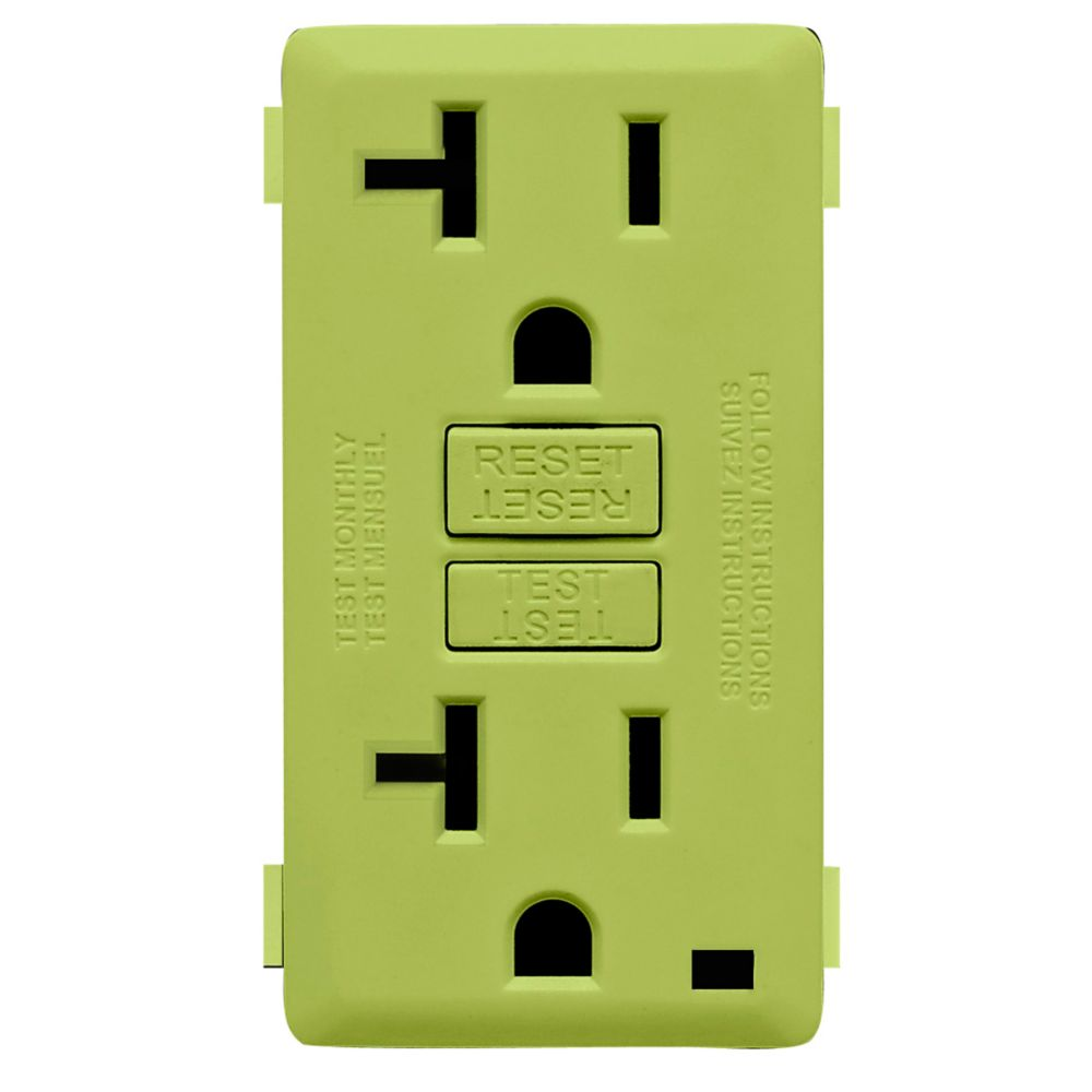 Leviton 20 Amp Flush Receptacle 250v 6 20r The Home Depot Canada 3 Way Switch Questions And Answers