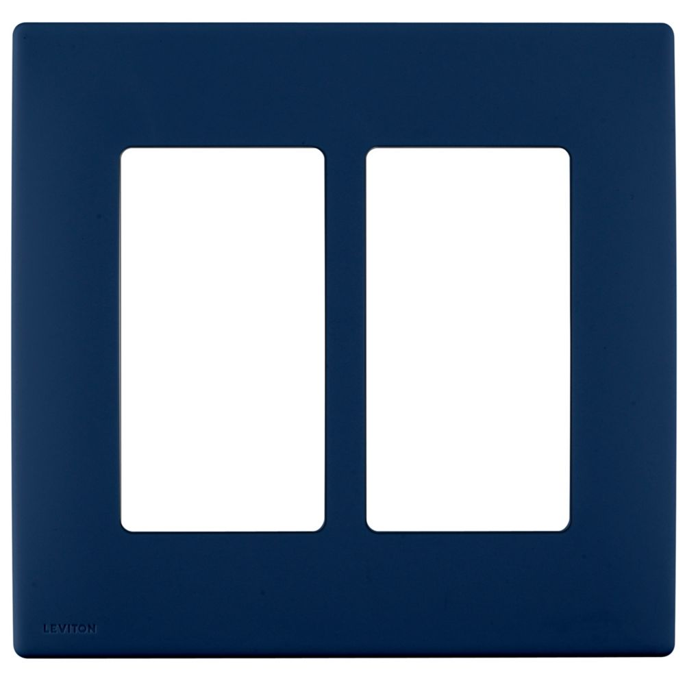 2-Gang Screwless Snap-On Wallplate for Two Devices, in Rich Navy REWP2-020 in Canada