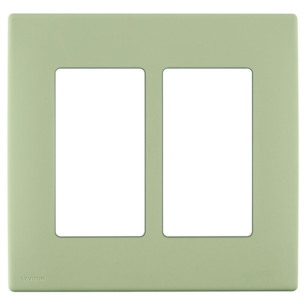 2-Gang Screwless Snap-On Wallplate for Two Devices, in Prairie Sage
