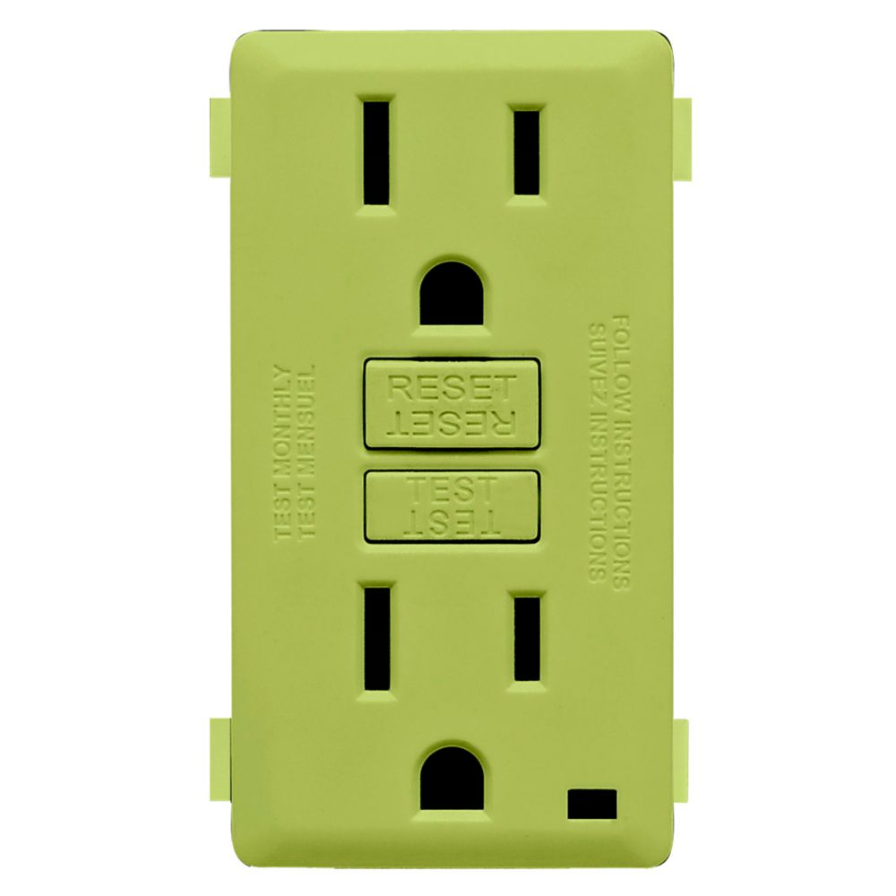 15A Colour Change Kit for Tamper Resistant GFCI Receptacles, in Granny Smith Apple