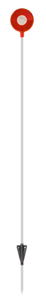 NuVue Products Driveway Marker 46 Red/White, Heavy Duty Rod