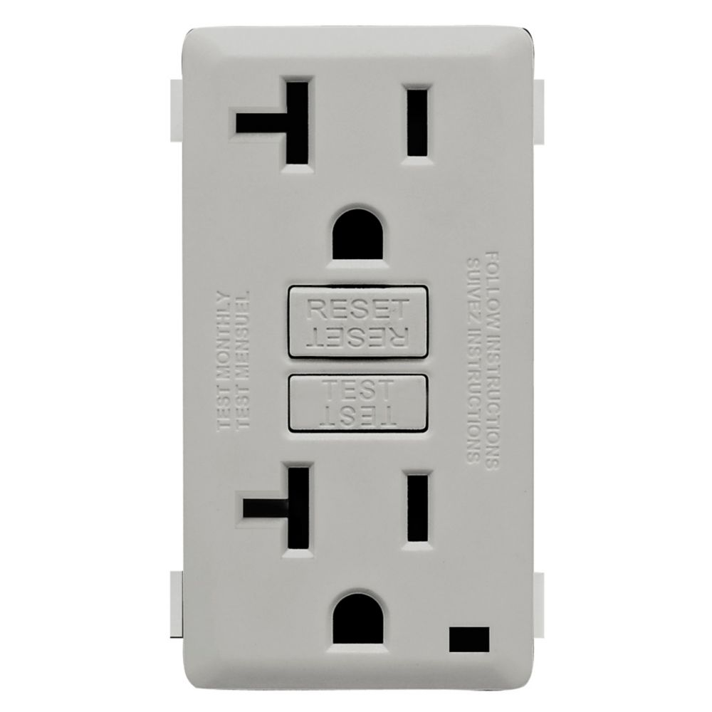 20A Colour Change Kit for Tamper Resistant GFCI Receptacles, in Pebble Gray