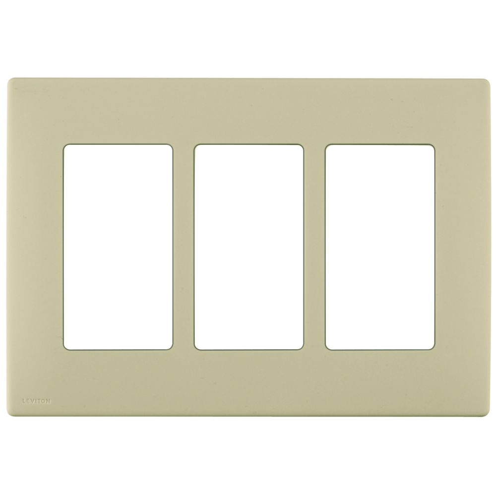 3-Gang Screwless Snap-On Wallplate for 3 Devices, in Navajo Sand