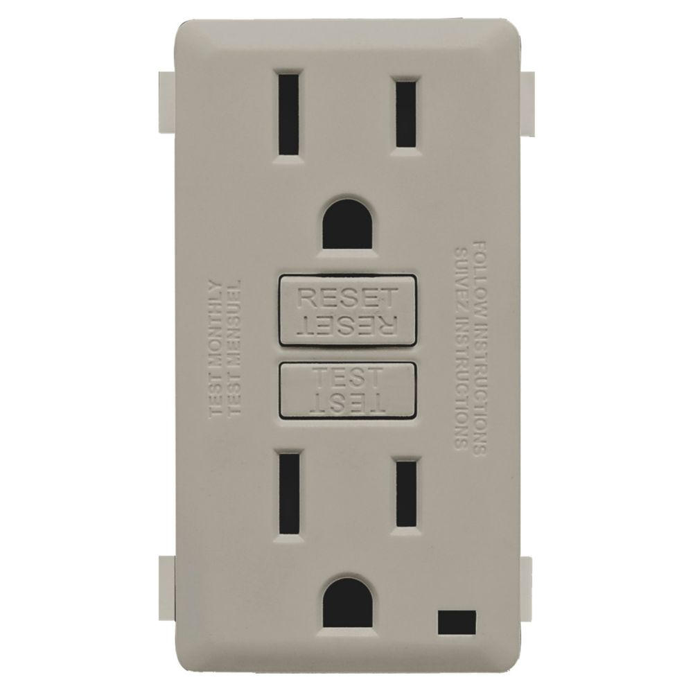 Renu Face Plate for 15A GFCI Receptacle (Wallplate not Included) in Wood Smoke
