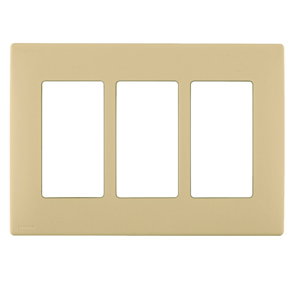 3-Gang Screwless Snap-On Wallplate for 3 Devices, in Dapper Tan REWP3-010 Canada Discount