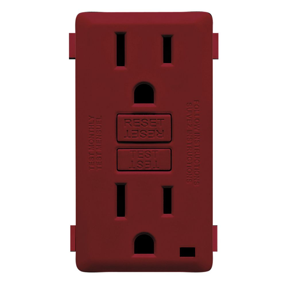 15A Colour Change Kit for Tamper Resistant GFCI Receptacles, in Deep Garnet