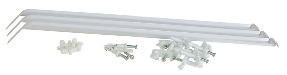 12 Inch White Support Brace with Installation Hardware