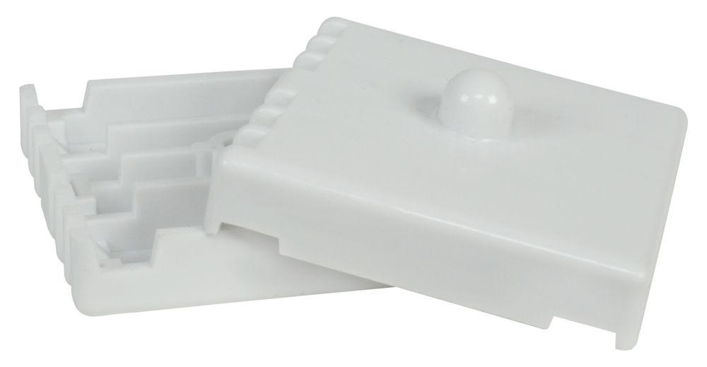 Support de joint en plastique pour étagères en treillis métallique