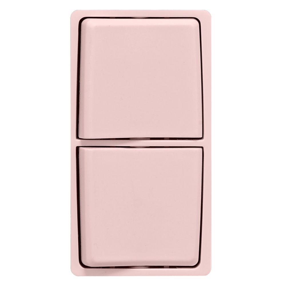 Trousse de changement de couleur Renu pour interrupteurs combinés Renu, en limonade rose.