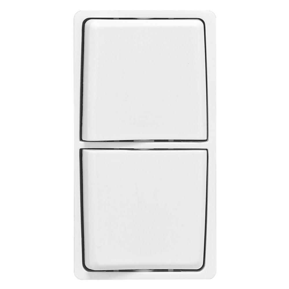 Trousse de changement de couleur Renu pour interrupteurs combinés Renu, en blanc sur blanc.