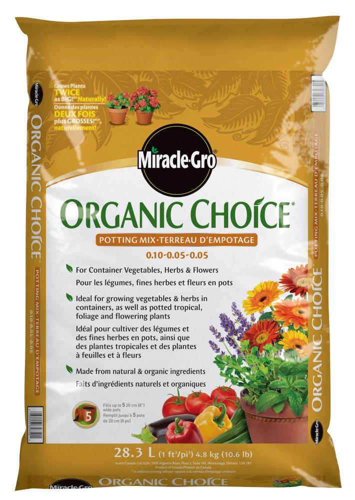 Miracle-Gro Organic Choice Potting Mix 28.3L